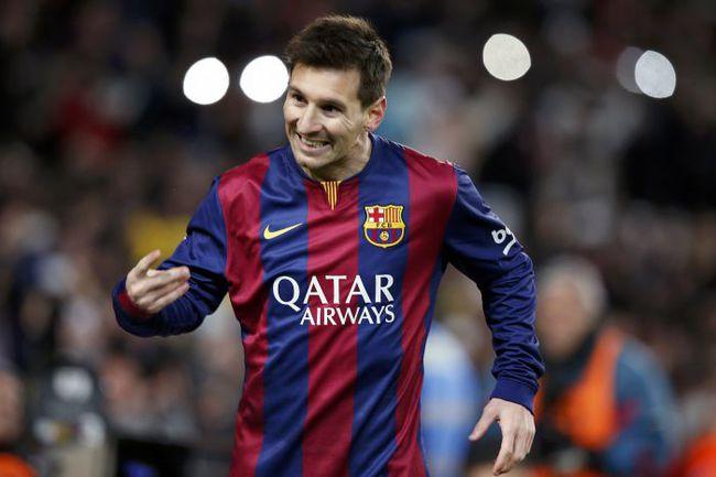 """Среда. Барселона. """"Барселона"""" - """"Атлетико"""" - 1:0. 85-я минута. Лионель МЕССИ празднует победный гол. Фото REUTERS"""