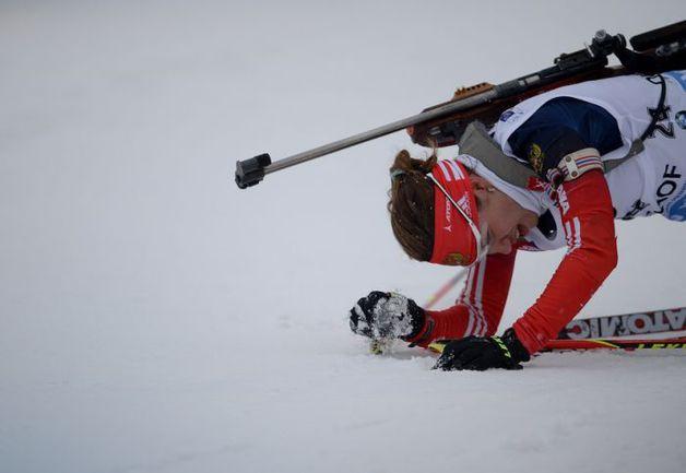 Дарья ВИРОЛАЙНЕН - лучшая из россиянок в спринте в Антерсельве финишировала 11-й. Фото СБР