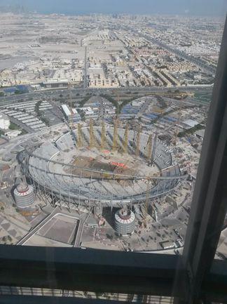 """Январь 2014 года. Катар. Вот так сейчас выглядит арена """"Аль-Халифа Интернэшнл Стэдиум"""", на которой в 2022 году пройдут матчи ЧМ. Фото Сергей ЦИММЕРМАН, """"СЭ"""""""