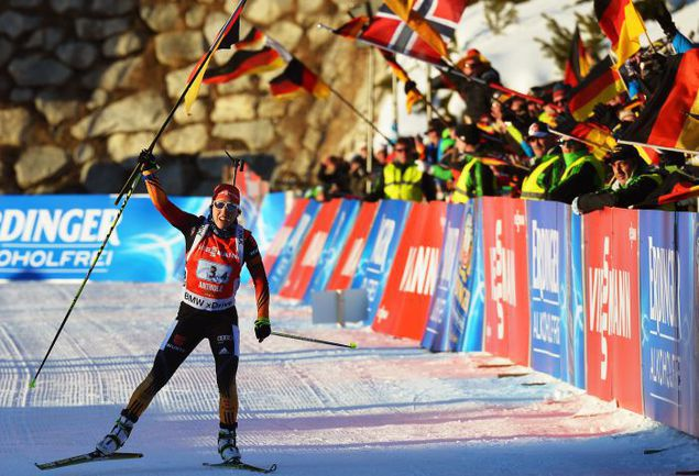 Сегодня. Антерсельва. Финиш с флагом - то, о чем россиянки могли мечтать в середине гонки. Фото AFP
