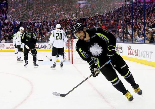 "25 января. Коламбус. Нападающий ""Вашингтона"" Александр ОВЕЧКИН во время Матча звезд НХЛ. Фото AFP"