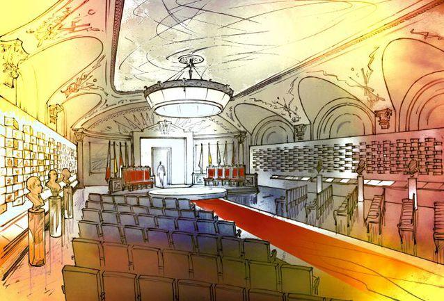 Эскиз Зала славы в режиме церемонии.