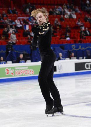 Сегодня. Стокгольм. Сергей ВОРОНОВ стал вторым после короткой программы. Фото AFP