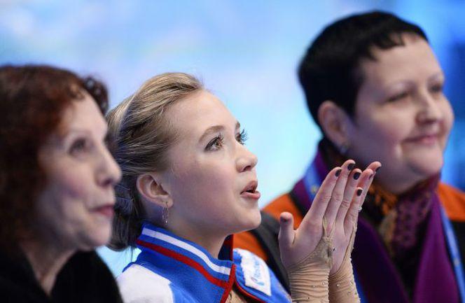 Сегодня. Стокгольм. Елена РАДИОНОВА выиграла короткую программу на чемпионате Европы. Фото AFP