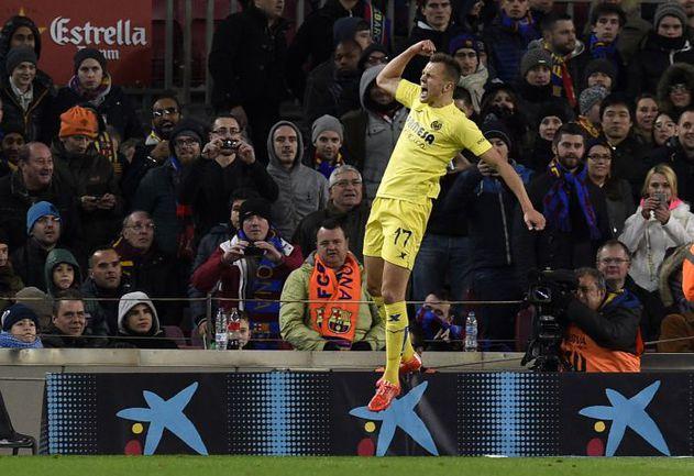 """Вчера. Барселона. """"Барселона"""" - """"Вильярреал"""" - 3:2. 30-я минута. Только что Денис ЧЕРЫШЕВ октрыл счет. Фото AFP"""