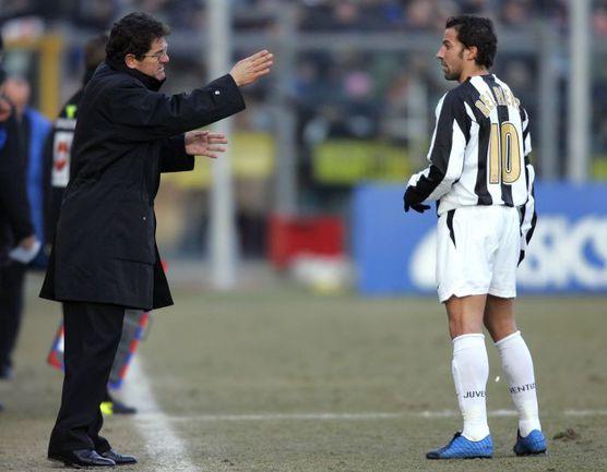 Фабио КАПЕЛЛО и Алессандро ДЕЛЬ ПЬЕРО не смогли найти общий язык. Фото AFP