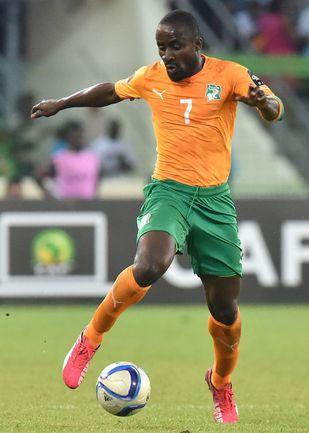 28 января. Малабо. Камерун - Кот-д'Ивуар - 0:1. Последний на данный момент матч Сейду ДУМБЬЯ за сборную. Фото AFP