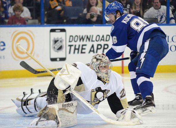 """Никита КУЧЕРОВ - лучший в НХЛ по """"плюс-минус"""". Фото AFP"""