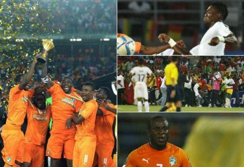 Триумф Кот-д'Ивуара и Сейду ДУМБЬЯ, личный успех Кристиана АТСУ и беспорядки в Малабо - таким был Кубок Африки-2015. Фото AFP, REUTERS