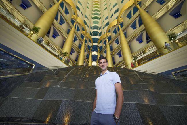 Новак ДЖОКОВИЧ в Дубае. Фото Jorge Ferrari