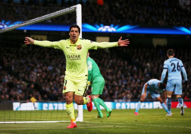 "Вторник. Манчестер. ""Манчестер Сити"" - ""Барселона"" - 1:2.30-я минута. Луис СУАРЕС радуется победному голу. Фото REUTERS"