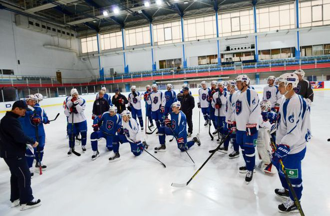 Сегодня. Открытая тренировка СКА. Фото photo.khl.ru