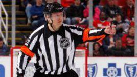 Евгений РОМАСЬКО в своем первом матче в НХЛ.