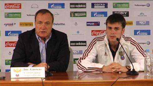 Пресс-конференция тренеров после матча Россия - Македония