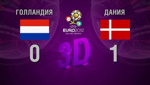 3D-голы. Голландия - Дания