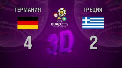 3D-голы. Германия - Греция