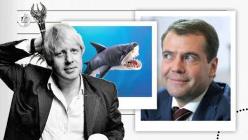 Танцевальный баттл Медведев vs мэр Лондона и плюшевая акула