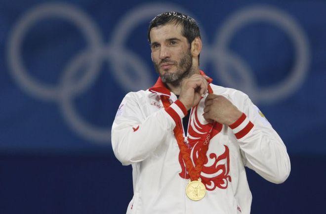 2008 год. Пекин. Бувайсар САЙТИЕВ - олимпийский чемпион. Фото Александр ВИЛЬФ