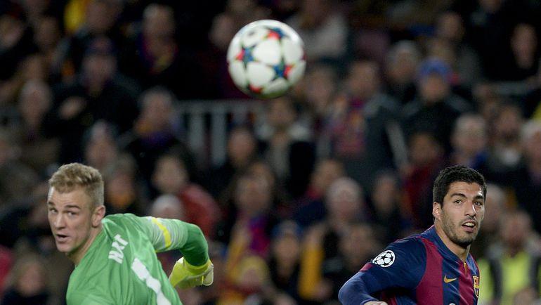 "Среда. Барселона. ""Барселона"" - ""Манчестер Сити"" - 1:0. Один из десяти сэйвов Джо ХАРТА. Фото AFP"
