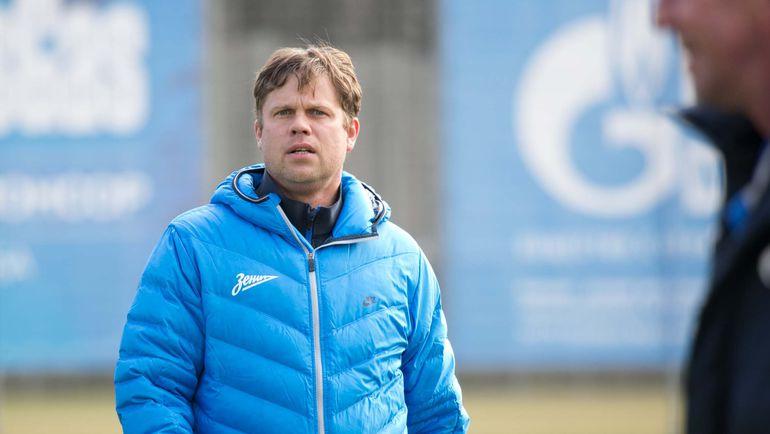 "Тренер ""Зенита-2"" Владислав РАДИМОВ. Фото Кристина КОРОВНИКОВА, «СЭ»"