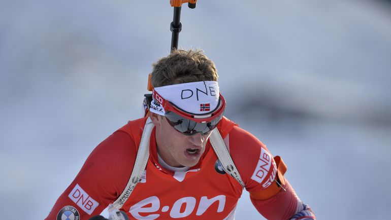 Норвежский биатлонист Тарьей БЕ. Фото AFP