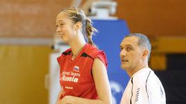 2007 год. Джованни КАПРАРА и Екатерина ГАМОВА на тренировке сборной России.