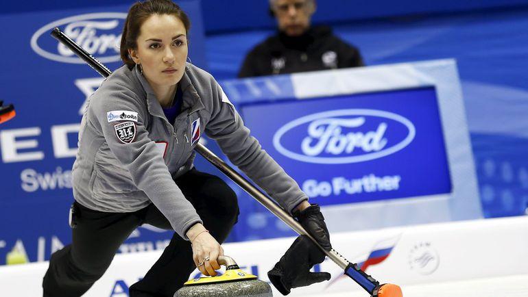 Скип сборной России Анна СИДОРОВА во время матча против Шотландии. Фото Reuters