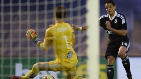 """Воскресенье. Виго. """"Сельта"""" – """"Реал"""" – 2:4. 24-я минута. Хавьер ЭРНАНДЕС выводит свою команду вперед. Фото Reuters"""