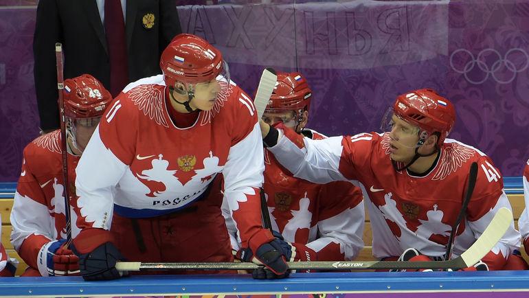 Нападающие сборной России Евгений МАЛКИН и Николай КУЛЕМИН. Фото Александ ФЕДОРОВ, «СЭ»