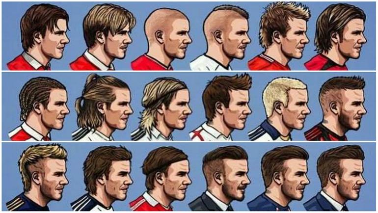 Мужские прически в английской сборной по футболу