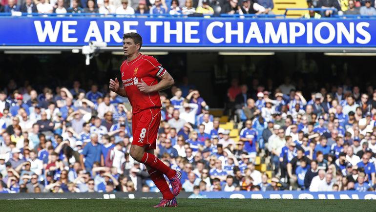 """Воскресенье. Лондон. """"Челси"""" - """"Ливерпуль"""" - 1:1. Стивен ДЖЕРРАРД. Фото Reuters"""
