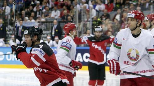 Сегодня. Четверг. Прага. Канада - Белоруссия - 9:0. Сборная Канады забросила первую шайбу уже на 27-й секунде встречи. Фото Reuters