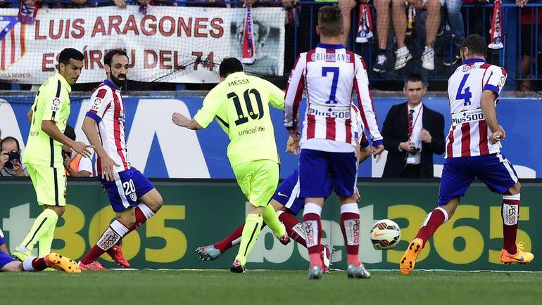 """Воскресенье. Мадрид. """"Атлетико"""" - """"Барселона"""" - 0:1. 65-я минута. Лионель МЕССИ приносит """"Барсе"""" чемпионство. Фото AFP"""