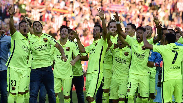 """Воскресенье. Мадрид. """"Атлетико"""" - """"Барселона"""" - 0:1. Каталонцы - чемпионы Испании. Фото AFP"""