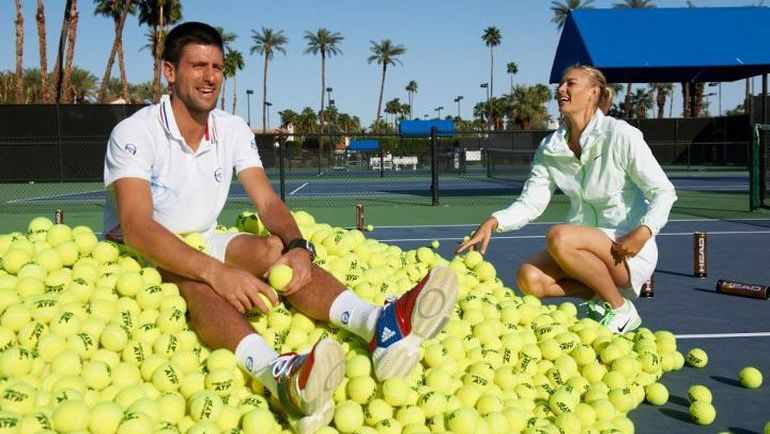 Новак ДЖОКОВИЧ и Мария ШАРАПОВА. Фото www.tenisportal.si