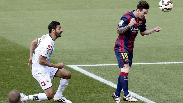 """Суббота. Барселона. """"Барселона"""" – """"Депортиво"""" – 2:2. 5-я минута. Лионель МЕССИ открывает счет в игре. Фото REUTERS"""
