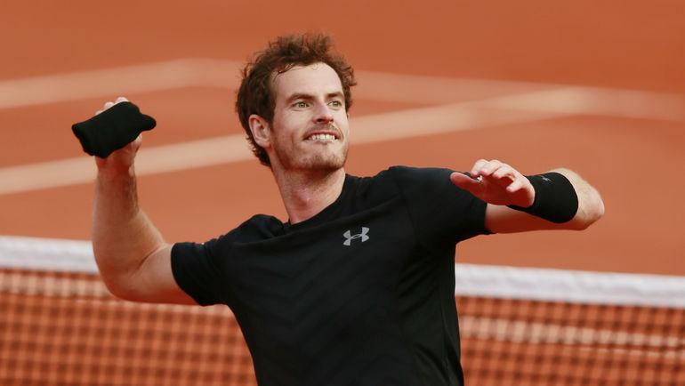 Энди МАРРЭЙ празднует победу в первом круге Roland Garros. Фото REUTERS