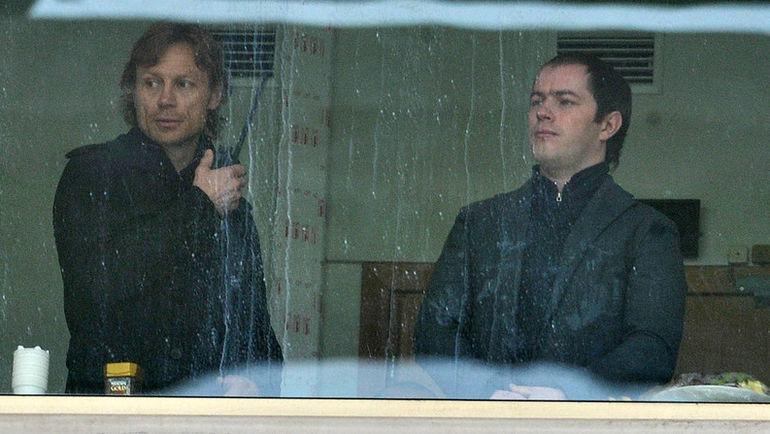 """Валерий КАРПИН (слева) и Роман АСХАБАДЗЕ. Фото Алексей ИВАНОВ, """"СЭ"""""""