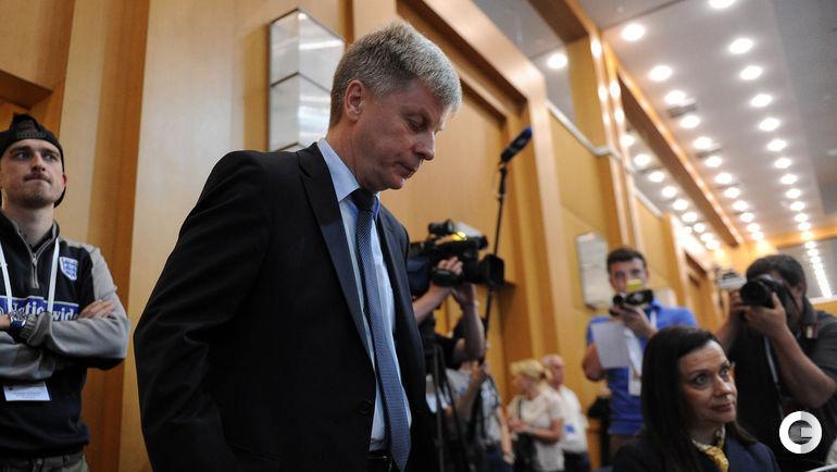 31 мая 2015 года. Москва. Николай ТОЛСТЫХ покидает пост президента РФС.