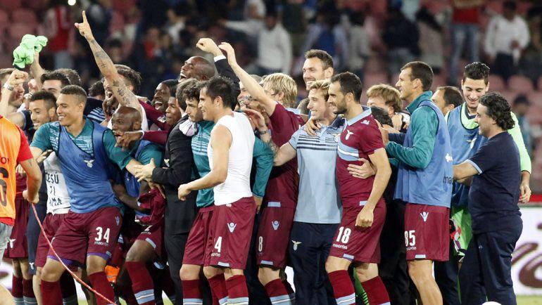 """""""Лацио"""" сумел по итогам сезона пробиться в Лигу чемпионов."""