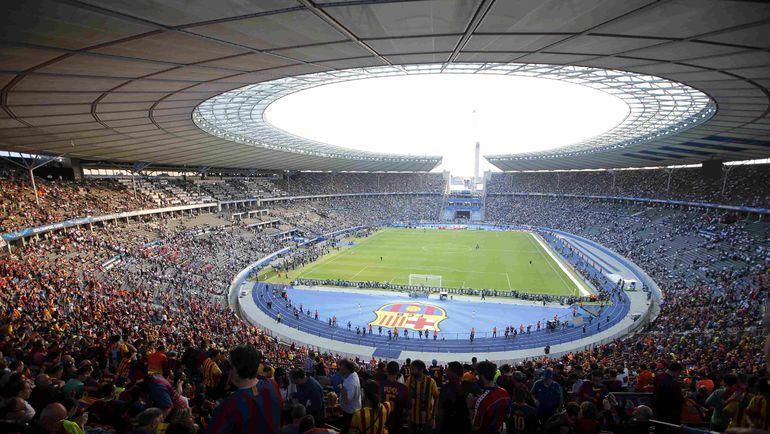 "Суббота. Берлин. ""Ювентус"" - ""Барселона"" - 1:3. Бурляший ""Олимпиаштадион"". Фото REUTERS"