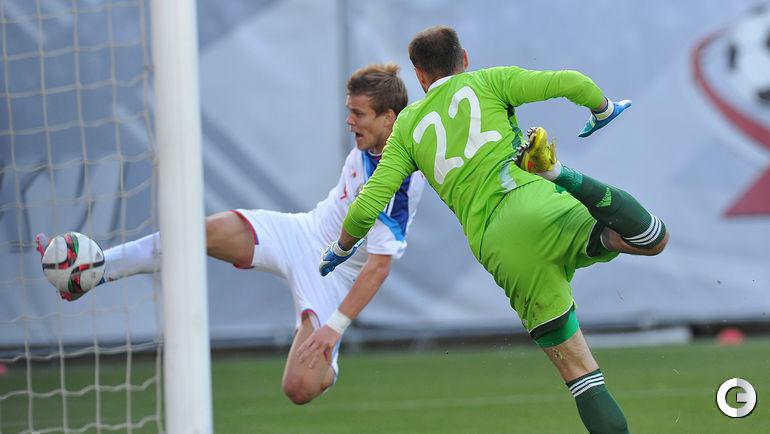 Александр КОКОРИН забивает первый гол сборной России.