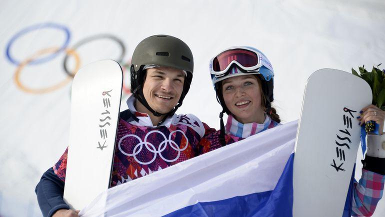 Вик УАЙЛД и Алена ЗАВАРЗИНА. Фото AFP