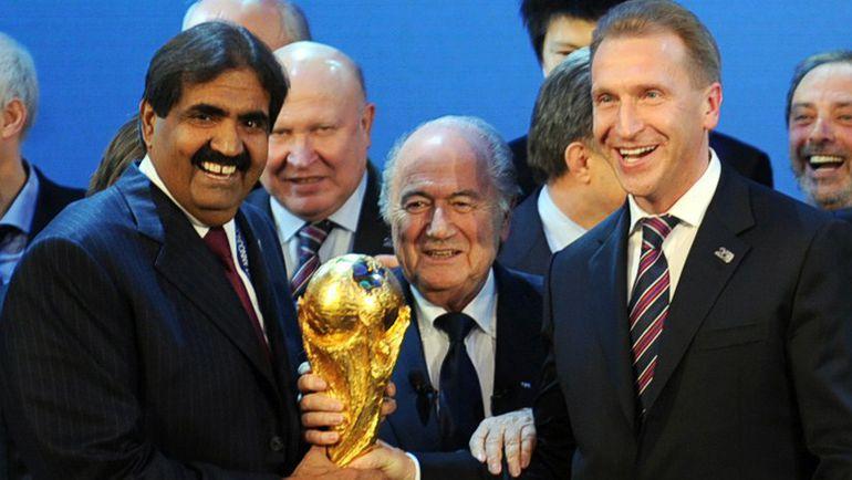2 декабря 2010. ФИФА выбрала Россию и Катар в качестве хозяев ЧМ-2018 и ЧМ-2022 соответственно. Фото AFP