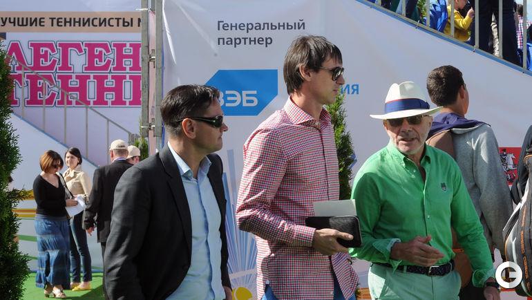 Дмитрий Аленичев, Егор Титов и генеральный секретарь и вице-президент ФТР - Яков Шатхин.