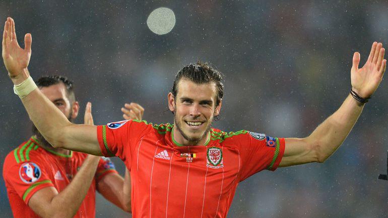 Пятница. Кардифф. Уэльс - Бельгия - 1:0. 25-я минута. Гарет БЭЙЛ празднует забитый гол. Фото AFP
