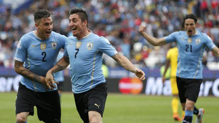 Суббота. Антофагаста. Уругвай – Ямайка – 1:0. 52-я минута. Гол полузащитника Кристиана РОДРИГЕСА (7) принес Уругваю победу на старте Кубка Америки-2015. Фото REUTERS