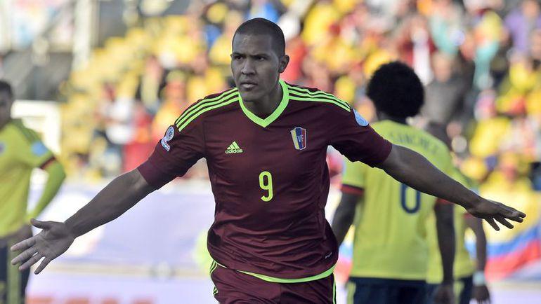 Воскресенье. Ранкагуа. Колумбия - Венесуэла - 0:1. 60-я минута. Саломон РОНДОН радуется победному голу. Фото REUTERS