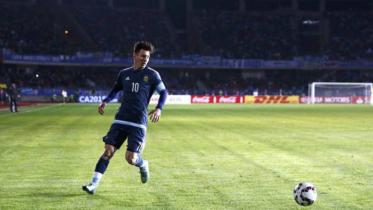 Вторник. Ла-Серена. Аргентина - Уругвай - 1:0. В игре Лионель МЕССИ. Фото REUTERS