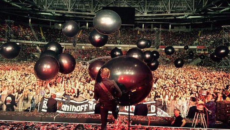 """Пятница. Москва. Концерт Muse на """"Открытие Арене"""". Фото twitter.com"""